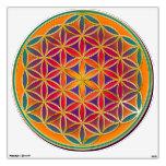 Flower of Life / Blume des Lebens - colorful Wall Skins