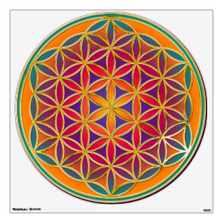 Flower of Life / Blume des Lebens - colorful Wall Graphics