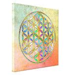 Flower of Life / Blume des Lebens - gold colorful Canvas Prints
