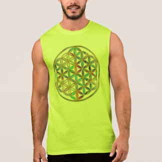 Flower of Life / Blume des Lebens - gold colorful Sleeveless T-shirt