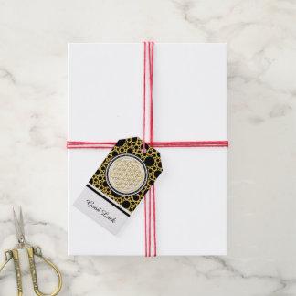 Flower Of Life / Blume des Lebens - gold Pack Of Gift Tags