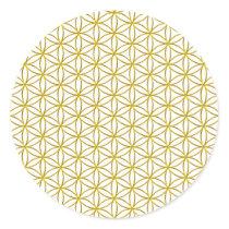 Flower of Life / Blume des Lebens - gold pattern Classic Round Sticker
