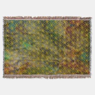 Flower of Life / Blume des Lebens - gold pattern Throw Blanket