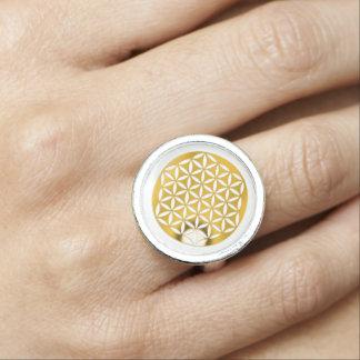 Flower Of Life / Blume des Lebens - GOLD punched Ring
