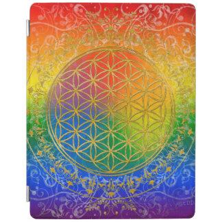 Flower Of Life / Blume des Lebens - GOLD rainbow iPad Smart Cover