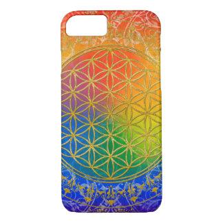 Flower Of Life / Blume des Lebens - GOLD rainbow iPhone 8/7 Case