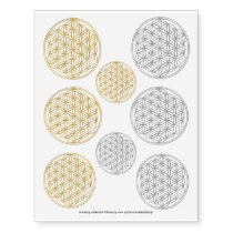 Flower Of Life / Blume des Lebens - gold & silver Temporary Tattoos