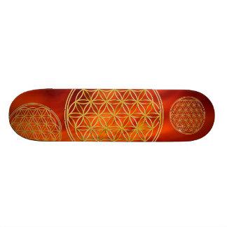 Flower Of Life / Blume des Lebens - gold Skateboard