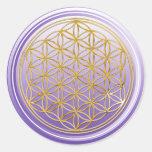 Flower Of Life / Blume des Lebens - GOLD violet Sticker