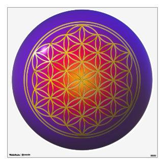 Flower Of Life / Blume des Lebens - gold violet Wall Sticker
