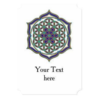 Flower Of Life / Blume des Lebens - Lotus Contour 5x7 Paper Invitation Card