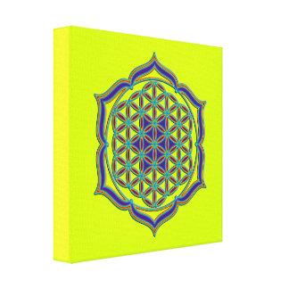 Flower Of Life / Blume des Lebens - Lotus Contour Canvas Print