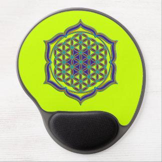Flower Of Life / Blume des Lebens - Lotus Contour Gel Mouse Pad