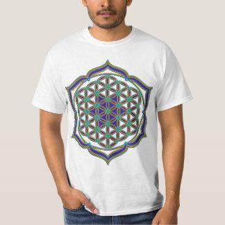 Flower Of Life / Blume des Lebens - Lotus Contour T Shirt