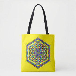 Flower Of Life / Blume des Lebens - lotus contour Tote Bag