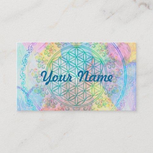 Flower of Life  Blume des Lebens _ Love Hearts Business Card