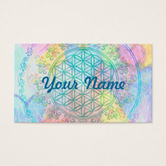 Flower of Life / Blume des Lebens - Love Hearts Business Card