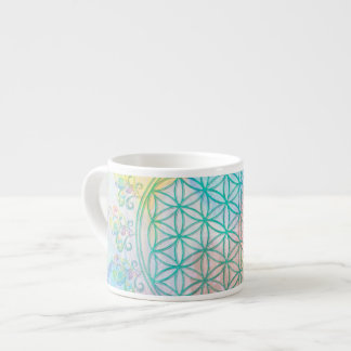 Flower of Life / Blume des Lebens - Love Hearts Espresso Cup