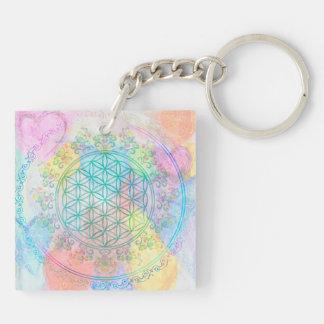 Flower of Life / Blume des Lebens - Love Hearts Keychain