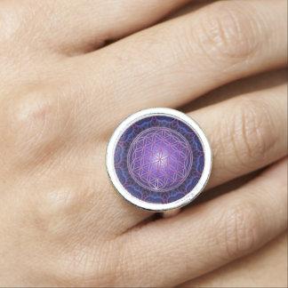 Flower Of Life / Blume des Lebens - Mandala I Photo Ring