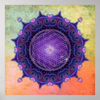 FLOWER OF LIFE / Blume des Lebens - Mandala I Poster