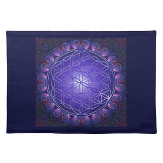 FLOWER OF LIFE / Blume des Lebens Mandala I Square Cloth Placemat