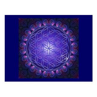 FLOWER OF LIFE / Blume des Lebens Mandala I Square Postcards