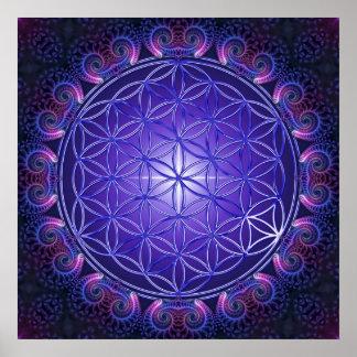 FLOWER OF LIFE / Blume des Lebens Mandala I Square Poster