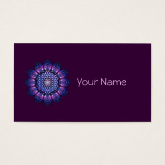 FLOWER OF LIFE / Blume des Lebens - Mandala II Business Card
