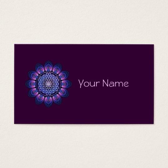 FLOWER OF LIFE / Blume des Lebens - Mandala II Business Card