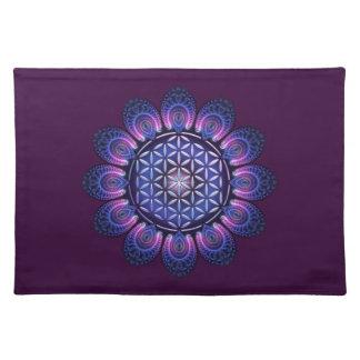 FLOWER OF LIFE / Blume des Lebens - Mandala II Cloth Placemat