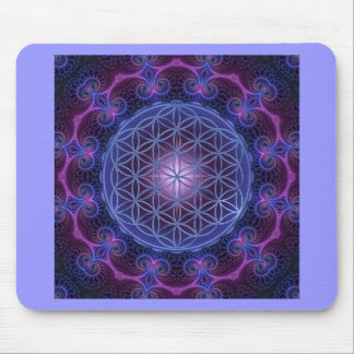 FLOWER OF LIFE/Blume des Lebens Mandala II Square Mouse Pad