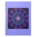 FLOWER OF LIFE/Blume des Lebens Mandala II Square Spiral Notebooks