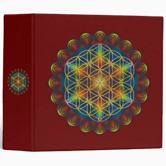 FLOWER OF LIFE / Blume des Lebens - Mandala III 3 Ring Binder