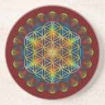 FLOWER OF LIFE / Blume des Lebens - Mandala III Coaster