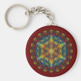 FLOWER OF LIFE / Blume des Lebens - Mandala III Keychain