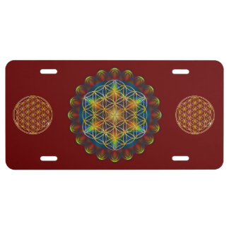 Flower Of Life / Blume des Lebens - Mandala III License Plate