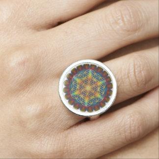 Flower Of Life / Blume des Lebens - Mandala III Rings