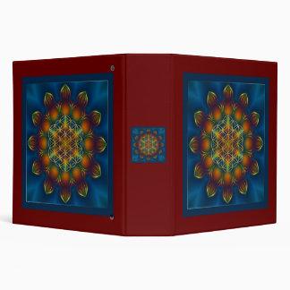FLOWER OF LIFE/Blume des Lebens Mandala III Square Binders