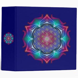 FLOWER OF LIFE / Blume des Lebens - Mandala IV 3 Ring Binder