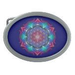 FLOWER OF LIFE / Blume des Lebens - Mandala IV Oval Belt Buckles