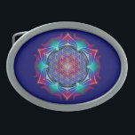 """FLOWER OF LIFE / Blume des Lebens - Mandala IV Belt Buckle<br><div class=""""desc"""">Apophysis Mandala ART by EDDA Fr&#246;hlich 