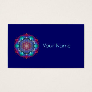 FLOWER OF LIFE / Blume des Lebens - Mandala IV Business Card