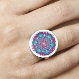 Flower Of Life / Blume des Lebens - Mandala IV Ring
