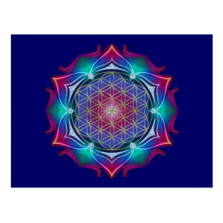 FLOWER OF LIFE / Blume des Lebens - Mandala IV Postcard