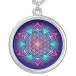 FLOWER OF LIFE / Blume des Lebens - Mandala IV Round Pendant Necklace