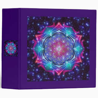 FLOWER OF LIFE/Blume des Lebens Mandala IV Square 3 Ring Binder