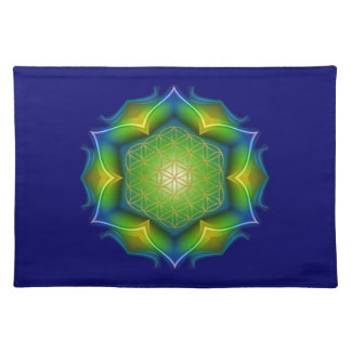 FLOWER OF LIFE / Blume des Lebens - Mandala V Cloth Placemat
