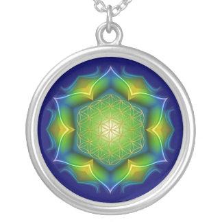 FLOWER OF LIFE / Blume des Lebens - Mandala V Silver Plated Necklace