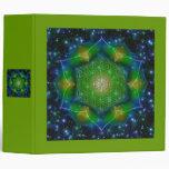 FLOWER OF LIFE/Blume des Lebens Mandala V Square 3 Ring Binder